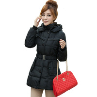 free shipping Women's slim down coat medium-long women's down coat female