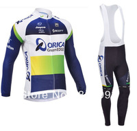 2013 Orica New Arrival Cycling Jersey(Upper)+Bib Pant(Lower)/No Fleece Inside/Biking Jackets/Sport Clothing/Cycle Clothes