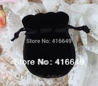 Free Shipping 100pcs/Lot 7x9cm Black velvet bag holiday Gift bag/Jewelry Bag/Jewelry Drawstring pouch