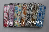 100pcs/lot  New Products Wholesale  Fashion Flower Hard Back Cove  For iphone 5c   7 Colors