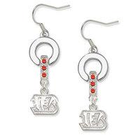 Free shipping 20pairs Cincinnati Bengals Crystal Earrings(E102881)