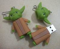 1pcs Genuine capacity 1g 2g 4g 8g 16g 32g Cartoon Star Wars Yoda usb flash drives pen drives memory stick