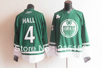 Free Shipping Ice Hockey Jerseys Oilers #4 Taylor Hall GREEN for NHL Jerseys Wholesale