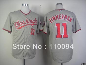 2013 NEW arrival Free shipping cheap Washington Nationals #11 Ryan Zimmerman baseball Jersey American Football jersey