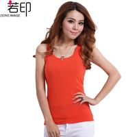 100% all-match cotton print plus size small vest small vest basic vest female summer basic shirt