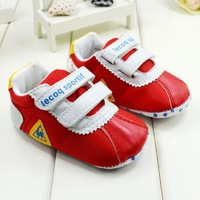 Free shipping 2013 Classic red casual boy girls baby pre toddler shoes 11cm-13cm children's soft sole shoes high quality