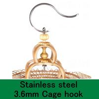 stainless steel large birdcage hook hot-sell birdcage accessries free shipping