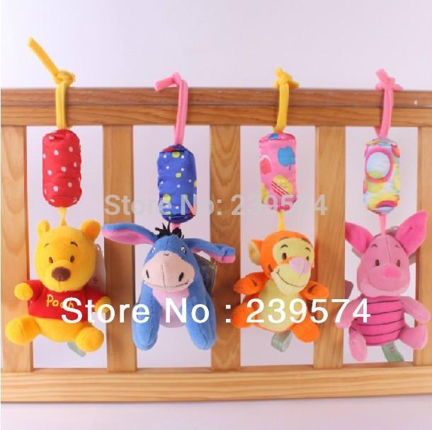 Versandkostenfrei hängend bett spielzeug baby-bett hängen spielzeug und klingeln 4 Stück/Menge- wj- 001