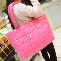 Down bags space bag Fashion winter cotton-padded jacket bag fashion shoulder bag big handbag,wholesales