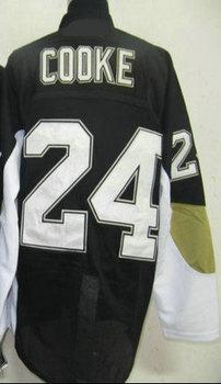 Cheap  Men's Hockey Jerseys #24 Sam Cooke Black Ice Hockey Jerseys