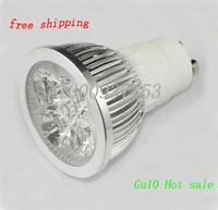 led  lamps gu10 dimmable 3w/4w bulb AC110V-260v  gu10 spotlight  10pcs/lots  free shipping