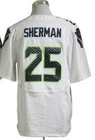 2013 New Arrival!!!American Football Elite Jersey #25 Richard Sherman White Elite Jerseys Men's Size 40-56 All Stitched(Sewn on)