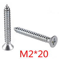 DIN7982/GB846  Stainless Steel 304- A2  Cross Recessed Countersunk Self Tapping Screw M2*20