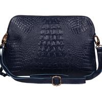 2014 fashion crocodile pattern genuine cowhide women's large clutch messenger bag female bags