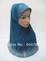 QSP005 free shipping gorgeous BEADING ISLAMIC HIJAB ONE PIECE muslim hijab