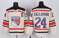 Wholesale Men's Ice Hockey Jersey New York Rangers #24 Ryan Callahan Cream Color C Patch 2012 Winter Classic NY Rangers Jersey