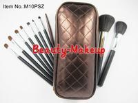 10SET/LOT wholesale Professional makeup tools 10 pieces brush set with bag brand makeup brush dropship free shipping