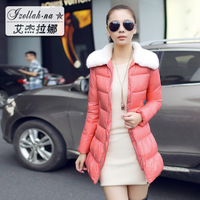 Large fur collar wadded jacket medium-long 2013 slim cotton-padded jacket winter thickening outerwear winter plus size clothing