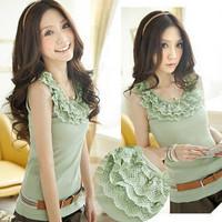 B102 classic aesthetic product outerwear universal neckline spaghetti strap lace decoration vest