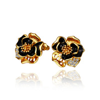 New Arrival 18K Gold Plated Fashion Crystal Jewelry Earrings Freeshipping Promotion 18KGP E600