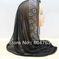 QSP008 free shipping Four flowers ISLAMIC HIJAB ONE PIECE muslim hijab