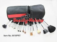 1set top quality 18pcs Professional Makeup Brush sets nylon & Kits + Waist Bag , with Logo, dropship Free Shipping