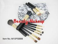 1set top quality Professional brand Makeup Brush set,10 Pcs brusher tools kit, Kit With Pattern waterproof bag, Free Shipping