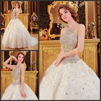2013 sparkling sexy wedding dress bandage tube top train wedding dress bride xj59