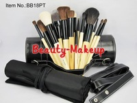 1set high quality 18piece Professional Makeup Brush sets & Kits + Shoulder PU Hard boxed, with BB Logo, Free Shipping