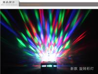 Colorful mini e27 led bulb rotating multicolour crystal magic ball wall lights rgb color lights