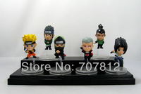 2013 Cute Naruto Aaction Figurse Sasuke/Shikamaru Anime  Figures 6pcs/set  6CM  Collections  Free Shipping Best Gifts