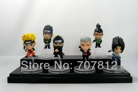 2013 Cute Naruto Aaction Figurse Sasuke/Shikamaru Anime  Figures 6pcs/set  6CM  Collections  Free Shipping Best Gifts