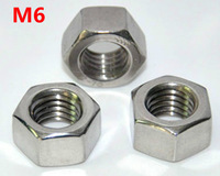 DIN934/GB6170  Stainless Steel A2--304 Hex Nuts METRIC  M6