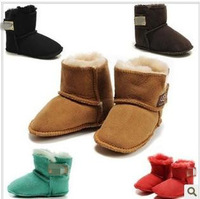 free shipping 2014 winter children snow boots, baby soft bottom toddler cotton shoes, boys and girls Australia's sheep fur boots