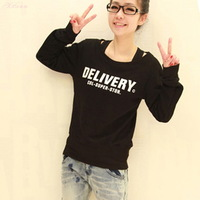 2013 autumn women's plus size loose casual sweatshirt outerwear female cardigan h055