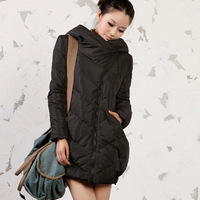 Puff hooded down coat