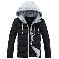 Thermal cotton-padded jacket Men slim winter faux two piece ,