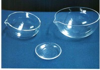 quartz galss evaporating dish/lab measurements&analysis instruments