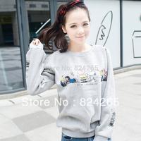 2014 New Full Moleton Feminino Sports Suit Sweatshirt Outerwear Women's Autumn And Winter Long-sleeve Top Baseball Uniform Shirt