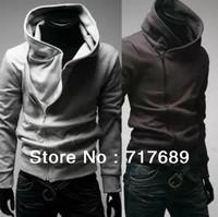 2013 fashion coat Men stayed casual hooded sweater Korean version of Slim black cardigan hoodies jacket