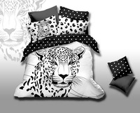 Black and White Dot Tiger comforter covers queen size 4pcs animal printed bedding set duvet cover bed linen bedclothes cotton