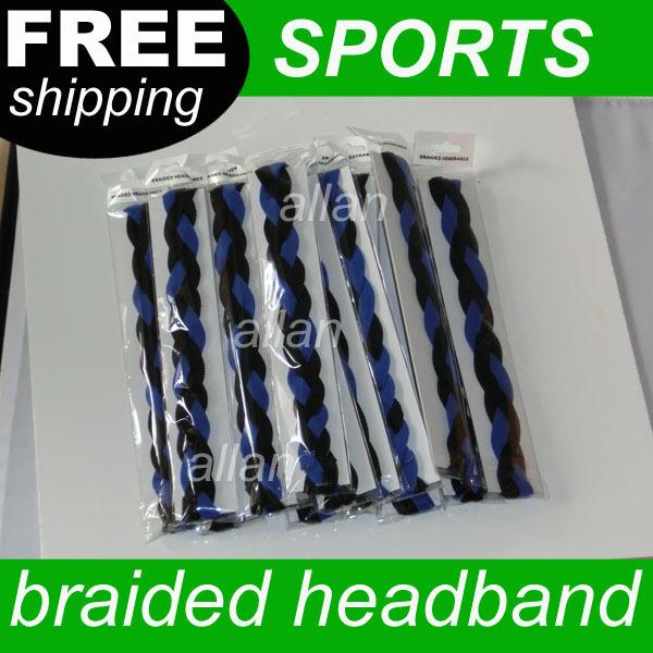 2013 hot selling 3 rope Braided mini fabric Headband for sports(China (Mainland))