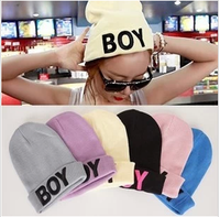Candy color boy yarn knitted hat fashion street neon hat male women's autumn and winter hat