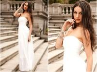 Free Shipping,  Elegant Fashion Tube Top Bridesmaids Long Formal Dress One-piece Dress, Drop Shipping, PD0049