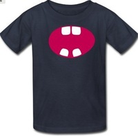 wide open mouth T-Shirt ,customized advertising  DIY T shirts short sleeve ,Free shipping