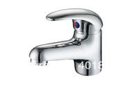 Dual Hole Mounted Chrome Bathroom Basin Faucet- Free Shipping (3601111)
