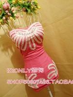 Fashion sexy tube top handmade tube top one-piece dress dress