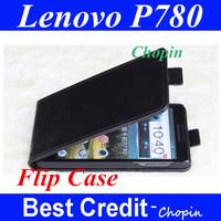 Free shipping fashion design black Lenovo P780 leather case P780cover case pouch case  TPU flip case for lenovo P780/Eva