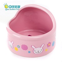 Jolly dome bowl pink food china bowl rabbit totoro guinea pig general
