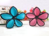 Wholesale Free shipping New Design 12pcs/lot print acrlic 8cm flower hair claw